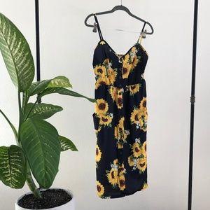 Dresses & Skirts - NWOT Plus Size Button Front Sunflower Dress